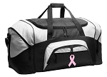 Pink Ribbon Duffel Bags or Pink Ribbon Gym Bags
