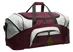 Large Don't Tread on Me Duffle Bag Maroon