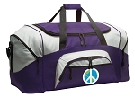 LARGE Peace Sign Duffle Bags & Gym Bags