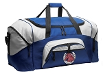 Horses Duffle Bag or Horse Lover Gym Bags Blue