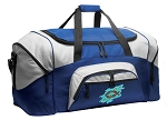 Christian Duffle Bag or Christian Theme Gym Bags Blue