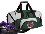 SMALL Horses Gym Bag Horse Lover Duffle Green