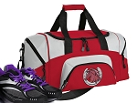 SMALL Horse Design Gym Bag Horse Lover Duffle Red