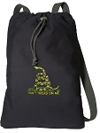 Don't Tread on Me Cotton Drawstring Bag Backpacks