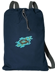 Christian Cotton Drawstring Bag Backpacks RICH NAVY