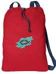 Christian Cotton Drawstring Bag Backpacks COOL RED
