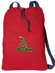 Don't Tread on Me Cotton Drawstring Bag Backpacks COOL RED