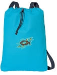 Christian Cotton Drawstring Bag Backpacks COOL BLUE