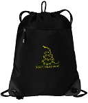 Don't Tread on Me Drawstring Backpack-MESH & MICROFIBER