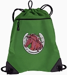 Horse Drawstring Backpack Mesh and Microfiber