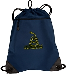 Don't Tread on Me Drawstring Backpack-MESH & MICROFIBER Navy