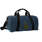 Don't Tread on Me Duffel RICH COTTON Washed Finish Blue