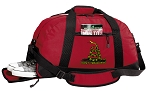 Don't Tread on Me Duffel Bag with Shoe Pocket Red