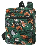 Wolf Bear Deer Small Backpack
