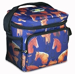 Horse Lunch Bag Cooler Cute Horses Print Lunchbox