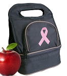Pink Ribbon Lunch Bag 2 Section