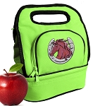 Horse Lunch Bag 2 Section Lime