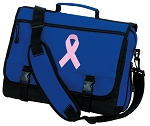 Pink Ribbon Messenger Bag Royal