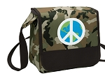 Peace Sign Lunch Bag Cooler Camo