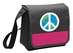 Peace Sign Lunch Bag Cooler Pink