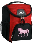 Cute Horse Best Lunch Bag Cooler Red