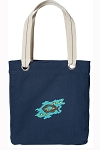 Christian Tote Bag RICH COTTON CANVAS Navy