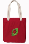 Ladybug Tote Bag RICH COTTON CANVAS Red