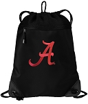 University of Alabama Drawstring Backpack-MESH & MICROFIBER