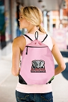 Alabama Drawstring Bag Mesh and Microfiber Pink