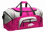 Ladies Womens University of Arkansas Duffel Bag or Gym Bag for Women