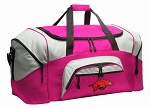 Ladies University of Arkansas Duffel Bag or Gym Bag for Women