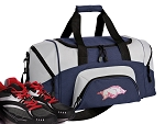 SMALL Womens University of Arkansas Gym Bag Arkansas Razorbacks Duffle Navy