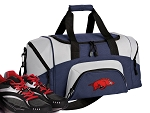 SMALL University of Arkansas Gym Bag Arkansas Razorbacks Duffle Navy