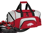 SMALL Womens University of Arkansas Gym Bag Arkansas Razorbacks Duffle Red