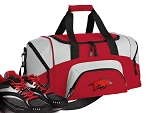 SMALL University of Arkansas Gym Bag Arkansas Razorbacks Duffle Red