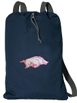 University of Arkansas Cotton Drawstring Bag Backpacks Cool Navy