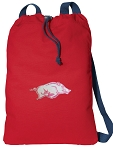 University of Arkansas Cotton Drawstring Bag Backpacks Cool RED