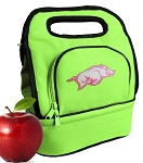 University of Arkansas Lunch Bag Green