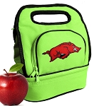 Arkansas Razorbacks Lunch Bag Green