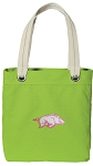 University of Arkansas Tote Bag RICH COTTON CANVAS Green