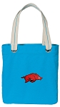 Arkansas Razorbacks Tote Bag RICH COTTON CANVAS Turquoise