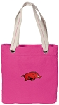 Arkansas Razorbacks Tote Bag RICH COTTON CANVAS Pink