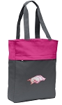 University of Arkansas Tote Bag Everyday Carryall Pink