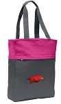 Arkansas Razorbacks Tote Bag Everyday Carryall Pink