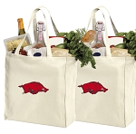 University of Arkansas Shopping Bags Arkansas Razorbacks Grocery Bags 2 PC SET