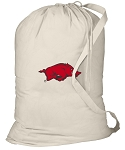 Arkansas Razorbacks Laundry Bag Natural