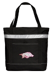 University of Arkansas Insulated Tote Bag Black