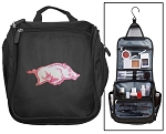 Womens University of Arkansas Toiletry Bag or Arkansas Razorbacks Shaving Kit Travel Organizer for Men