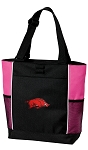 Arkansas Razorbacks Neon Pink Tote Bag