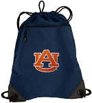 Auburn Drawstring Backpack-MESH & MICROFIBER Navy